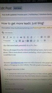 Blog and get more leads, Pullman Marketing