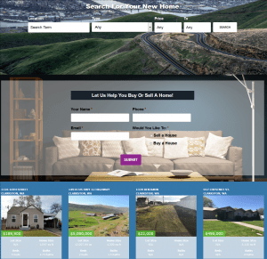 custom websites for real estate marketing