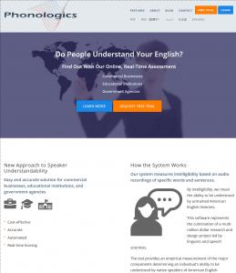 phonologics web site custom website for university research