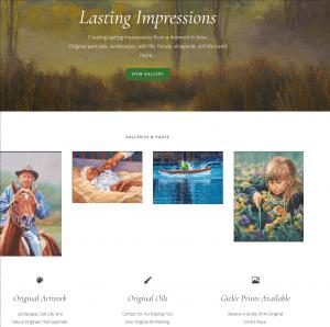 client website portfolio artist websites
