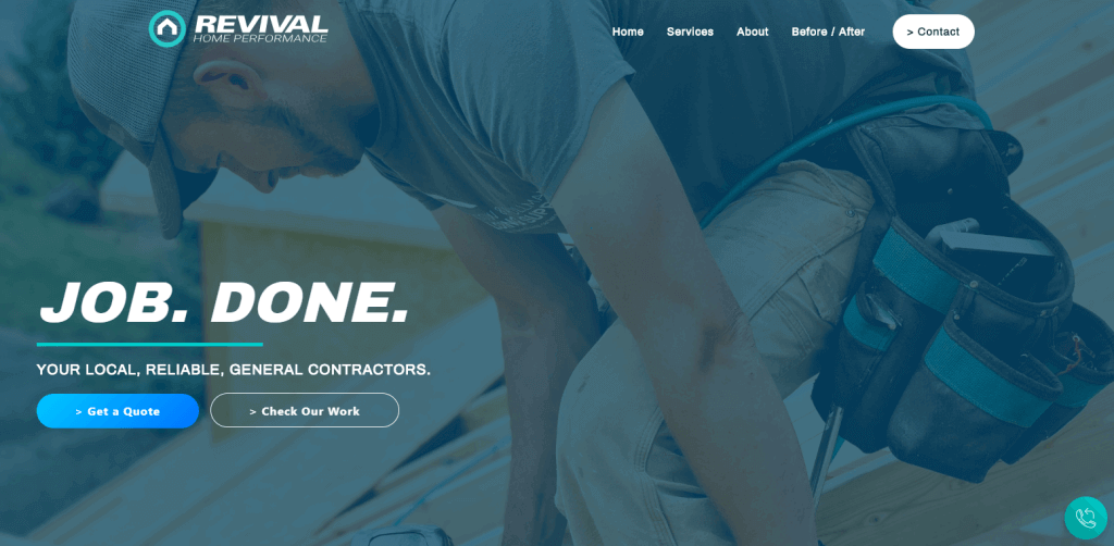 Revival Home Performance | Marketing Client