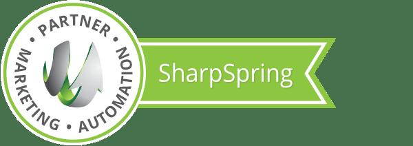 Sharpspring Partner Ribbon for designating a marketing automation company