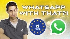 Social MEdia Marketing and GDPR Whatsapp Lawsuit